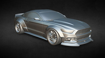 3d model of Ford Mustang