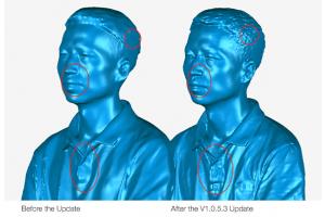 EinScan H Software Update, Richer Details in Face Scan Mode