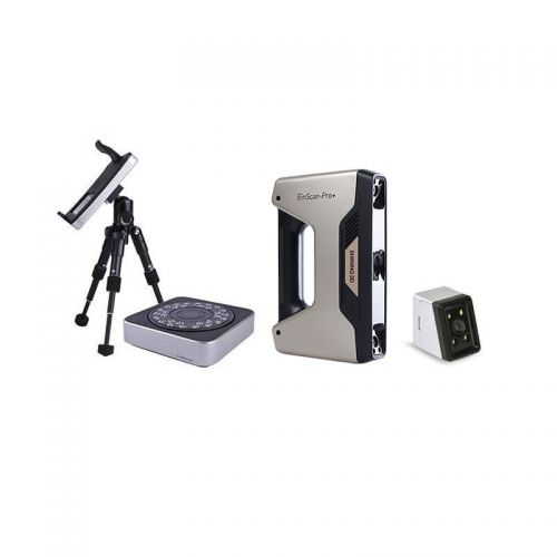 EinScan-Pro+ Handheld 3D Scanner - with Industrial Tripod, Turntable & Color Pack