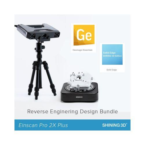 EinScan Pro 2X Plus Reverse Engineering Design Bundle (Industrial Pack + Geomagic Essentials + Solid Edge SHINING 3D Edition)