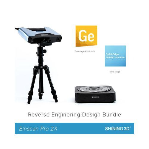 EinScan Pro 2X Reverse Engineering Design Bundle (Industrial Pack + Geomagic Essentials + Solid Edge SHINING 3D Edition)