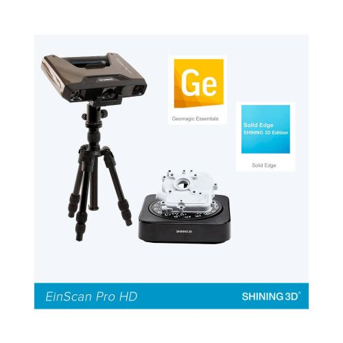 EinScan Pro HD Reverse Engineering Design Bundle (Industrial Pack + Geomagic Essentials + Solid Edge SHINING 3D Edition)